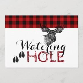 Lumberjack Birthday - Watering Hole Card