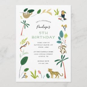 Lush Jungle Birthday Party Invitation