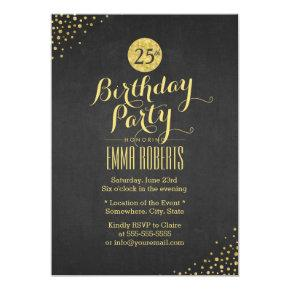 Luxury Black & Gold Birthday Party Invitation
