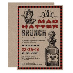 Mad Hatter Brunch Party Invitation