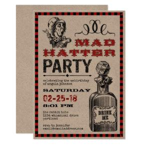 Mad Hatter Unbirthday Party Invitation