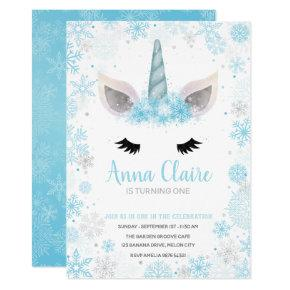 Magical Frozen Unicorn | Girl Birthday Invitation