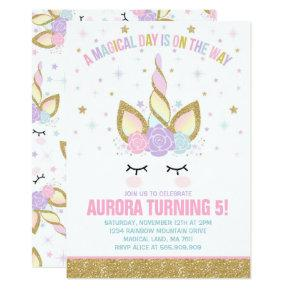 Magical Unicorn Birthday Invitations Unicorn Party