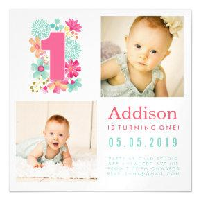 |MAGNET| Babies Number 1 1st Birthday Photo Card