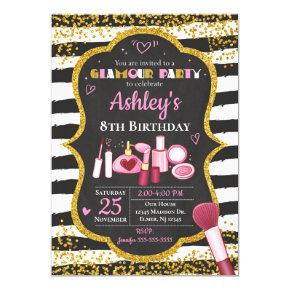 Makeup Birthday Invitation / Glamour Party