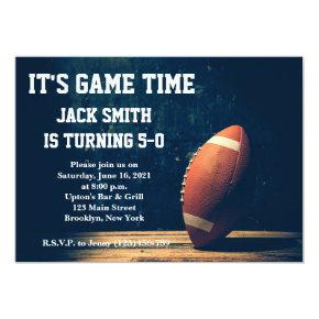 Man Football Custom Birthday Invitations