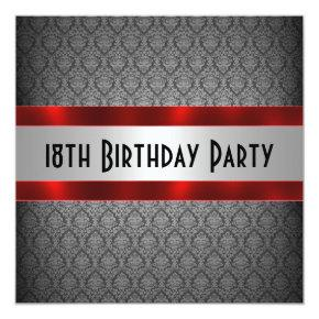 Man's 18th Birthday Invitations