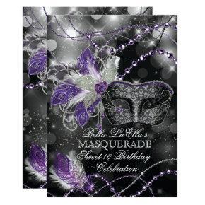 Mardi Gras Masquerade Birthday Party Invitation