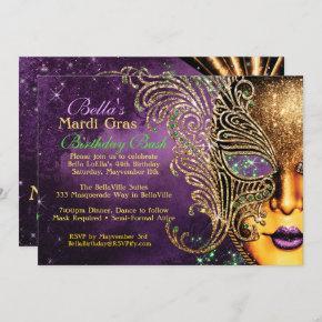 Mardi Gras Masquerade Birthday Party