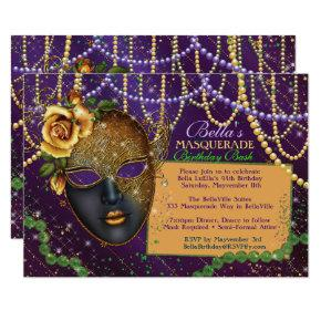 Mardi Gras Masquerade Birthday Party