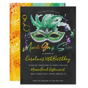 Mardi Gras Soiree | 30th Birthday Invitation