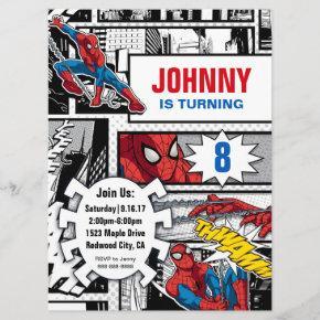 Marvel | Spiderman - Birthday Invitation