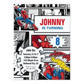 Marvel   Spiderman - Birthday Invitation