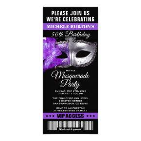 Masquerade Ball Birthday Party Ticket
