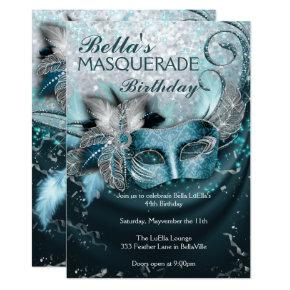Masquerade Birthday Party Invitations
