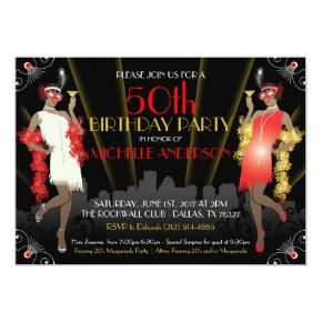 Masquerade Mardi Gras Birthday Inivtation Invitation