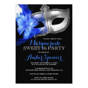 Masquerade Mardi Gras Sweet 16 Birthday Party Invitations