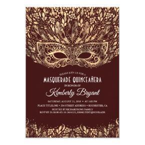 MASQUERADE QUINCEANERA 15TH BIRTHDAY PARTY INVITATION