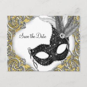 Masquerade Save The Date Announcement Post