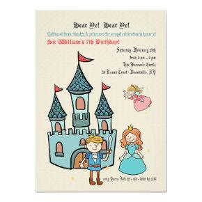 Medieval Times Birthday Party Invitation