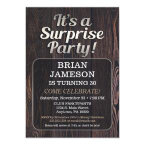 Mens Surprise Party Invitations For Man Adult Male