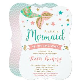Mermaid Baby Shower Invitations Little Mermaid Baby