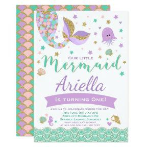 Mermaid Birthday Invitations Under The Sea Party