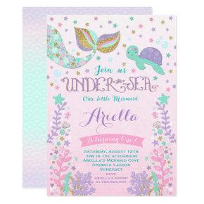 Mermaid Birthday Invitation Under The Sea Party