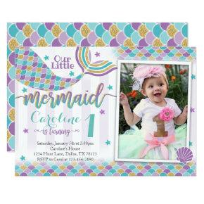Mermaid Birthday Party Invitations Invite