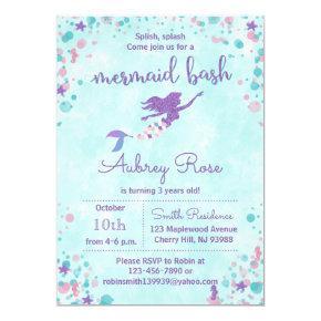 Mermaid Birthday Party Invitations - Mermaid Bash