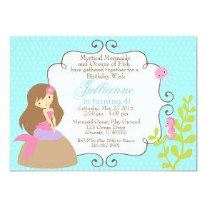 Mermaid invitation for a girl birthday