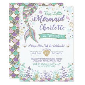 Mermaid Invitation Under the Sea Birthday Sparkle