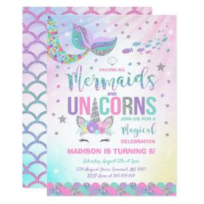 magical unicorn party birthday invitations candied clouds
