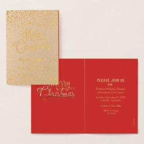 Merry Christmas & Happy New Year! 2021 Winter Snow Foil