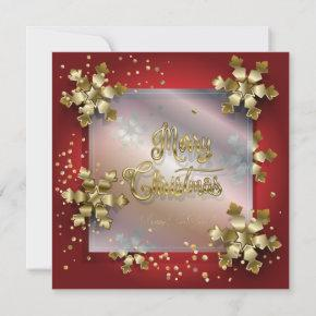 Merry Christmas & New Year! 2021 Gold Luxury Holiday