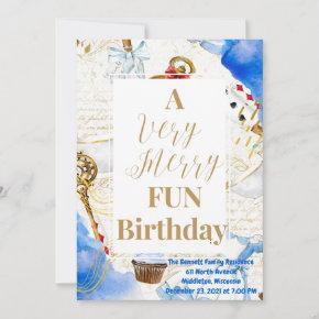 Merry Fun Birthday Invitation