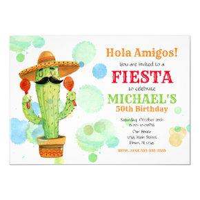 Mexican Fiesta Birthday Invitation ALL AGES