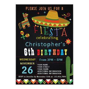 MEXICAN FIESTA BIRTHDAY INVITATION | FIESTA PARTY