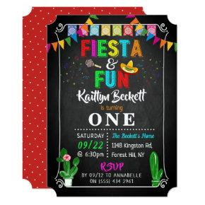 Mexican Fiesta & Fun 1st Birthday Invitation