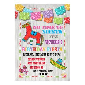 Mexican Fiesta Kids Birthday Party Invitation