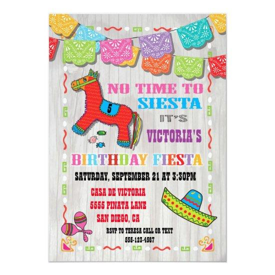 mexican fiesta kids birthday party invitations candied clouds