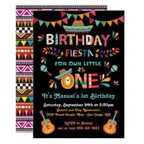 Mexican Fiesta little One 1st Birthday Invitation