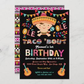 Mexican Fiesta Taco bout 1st Birthday Invitation