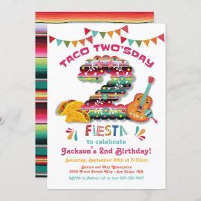 Mexican Fiesta Taco Two'sday Birthday Invitation