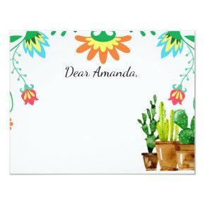 Mexican Fiesta Time Capsule Note Card Guestbook
