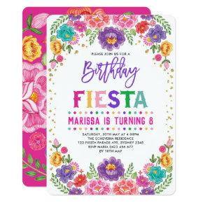 Mexican Floral Fiesta Nacho Average Birthday Party Invitation