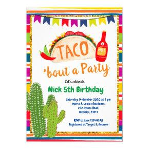 Mexican Taco Bout a Party Birthday Invitation