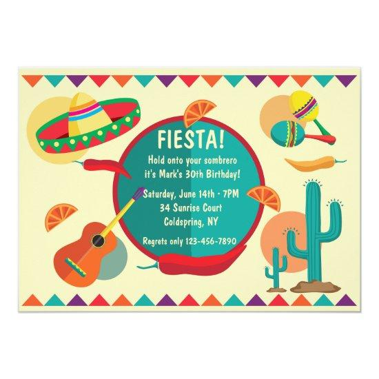 mexican theme birthday party invitations candied clouds