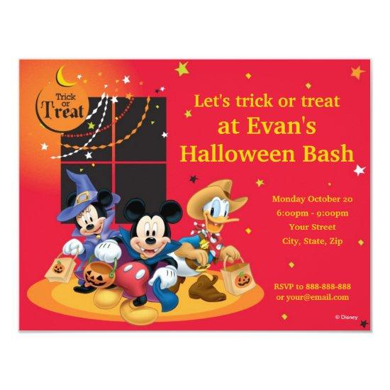 Mickey And Friends Halloween Party Invitations Candied Clouds
