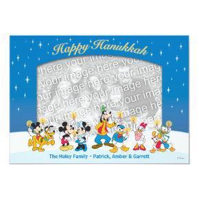 Mickey and Friends: Happy Hanukkah Card